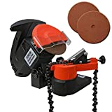 Voche® 220W Electric Bench Top Chainsaw Blade Chain Sharpener with 3 Sharpening Grinding Wheels