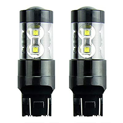 JDM ASTAR Extremely Bright Max 50W High Power 7444 7443 7441 7440 LED Light Bulbs for Back Up Reverse Lights, Xenon White