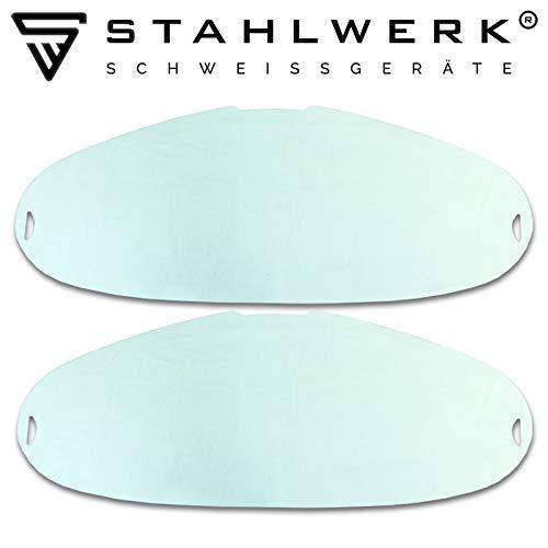 STAHLWERK Ersatzscheiben für Vollautomatik Schweißhelm SST-800PV, transparent, 2er Set