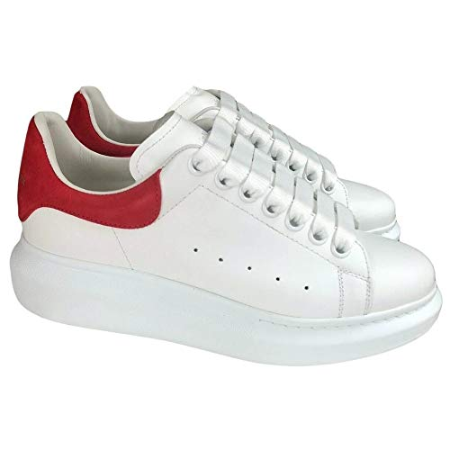Alexander McQueen White/Red Oversize Sneakers New and Authentic (Numeric_9_Point_5)