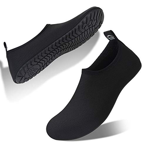Buty kąpielowe, damskie, męskie, buty plażowe, buty na bose nogi, buty do wody, buty do pływania, - czarny Bl - 40/41 EU