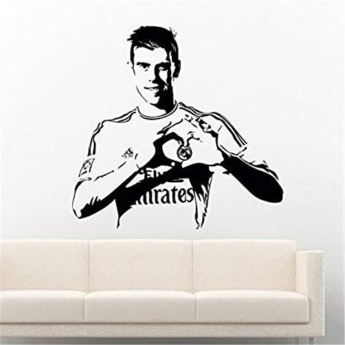 Fußball Fußball Sport Spieler Super Star Vinyl Wandaufkleber Aufkleber Gareth Bale Art Poster Wandbilder Kinderzimmer Kinderzimmer Home Decoration