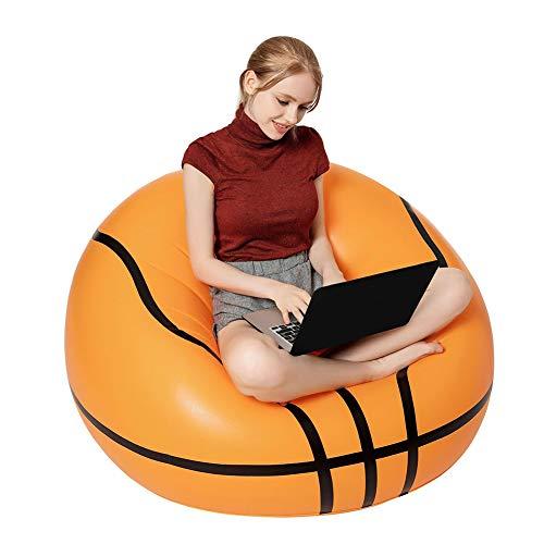 YB&GQ Aufblasbarer Basketballstuhl,Sitzsack,Aufblasbare Faules Sofa Lounge Sessel Für Erwachsene,Kinder,Terrasse,Rasen,Pool-Seite Verwenden Basketball 100x100x65cm(39x39x26inch)