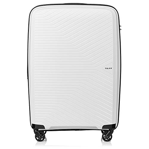 Tripp White Chic Medium Expandable 4 Wheel Suitcase