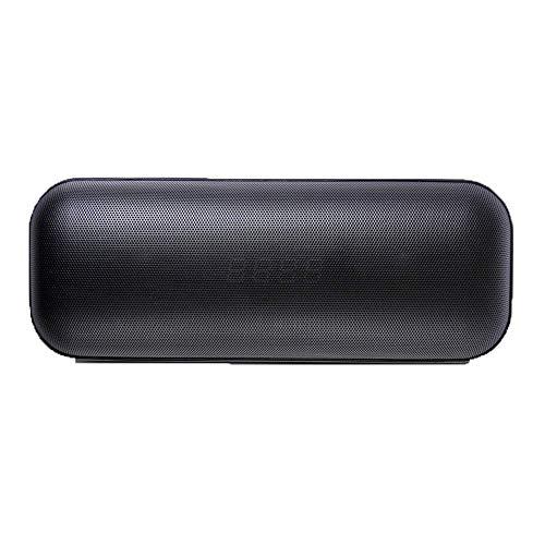 Bocina Bluetooth Portatil Altavoz portátil Bluetooth Altavoz del Reloj, Altavoz inalámbrico con el Potente Sonido más Fuerte, Mini Radio Alarma de Viaje, al Aire Libre (Color : Black)