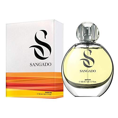 SANGADO Gardenia Parfüm für Damen, 8-10 Stunden Langanhaltend, Luxuriös Duftendes, Blumiges, Zarte französische Essenszen, Extra-konzentriert (Parfüm), Ideales Geschenk für Frauen, 50 ml Spray