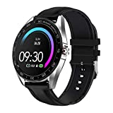 Fitness Smart Watches for Men - 1.3 inch Large Size Whole Round Touch Screen Health Fitness Watch Compatible with iPhone and Android Phone…
