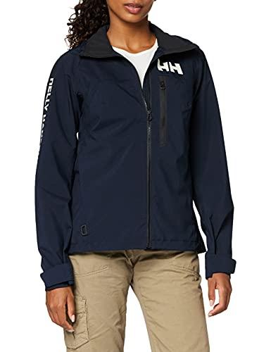 Helly Hansen HP Racing Prueba De Viento Y Respirable Cuello Forro Polar Marina Deportes Navegación Chaqueta Impermeable, Mujer, Azul (Navy), M