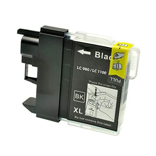 Logic-Seek Tintenpatrone kompatibel für Brother DCP 145 LC-980 BK - Schwarz, 23ml, kompatibel für LC-980bk