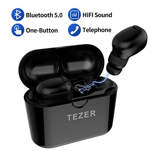 TEZER Wireless Headset V5.0 Bluetooth Kopfhörer,Stereo Bluetooth Ohrhörer Sport Drahtloser Bluetooth Kopfhörer for iPhone Android Samsung Huawei
