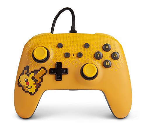 PowerA Pokemon Enhanced Wired Controller for Nintendo Switch - Pixel Pikachu, Gamepad, Wired Video Game Controller, Gaming Controller - Nintendo Switch