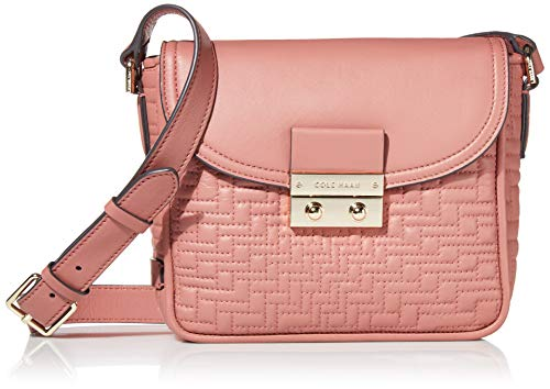Cole Haan Lock Group Quilted Crossbody, withered Rose