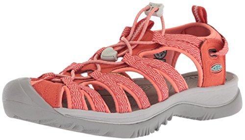 KEEN Womens Whisper Sandal, Summer fig/crabapple, 10 M US