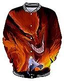 QYIFIRST Sweat à Capuche Unisexe Anime 3D Impression Kurama Kyuubi Kyubi Nine Tailed Fox...