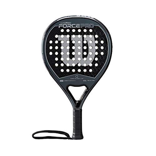 Wilson Padel-Schläger, Carbon Force Pro, Unisex, schwarz/grau, EVA-Kern/Karbon, 365 Gramm, Auch für Beach-Tennis geeignet, WR005311F2