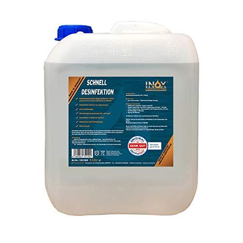 INOX® Desinfektionsmittel, 5L - Schnelldesinfektion von glatten Oberflächen, Flächendesinfektion begrenzt viruzid, universell einsetzbar