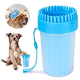 FULNEW Portable Dog Paw Cleaner Upgrade Dog Paw Washer Cup Paw Cleaner for Cats and Small\/Medium Dogs (Medium,Blue)