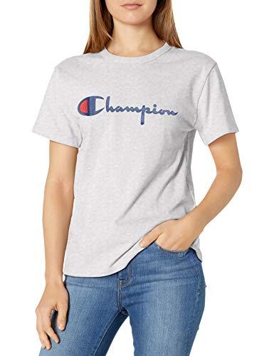 Champion The Heritage tee Camiseta, Gfs Plata Gris, L para Mujer