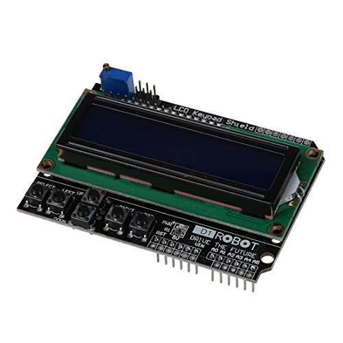 TOOGOO(R)Tastatur Schild Zeichen LCD Anzeige Ein- und Ausgangserweiterungskarte mit blauer Hintergrundbeleuchtung fuer Arduino Robot LCD 1602 1280 2560 UNO US
