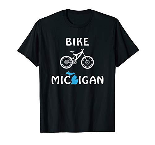 Mountain Bike Michigan for Cyclists & Bicycle Riders T-Shirt