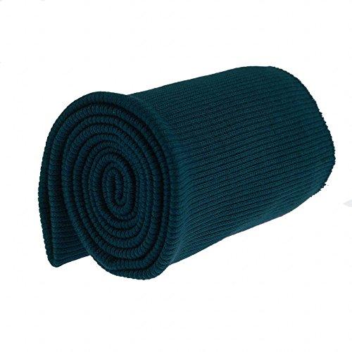 16x80cm Bündchen Strickbündchen Bündchenstoff Baumwolle elastisch gerippt, Farbwahl, Farbe:marineblau