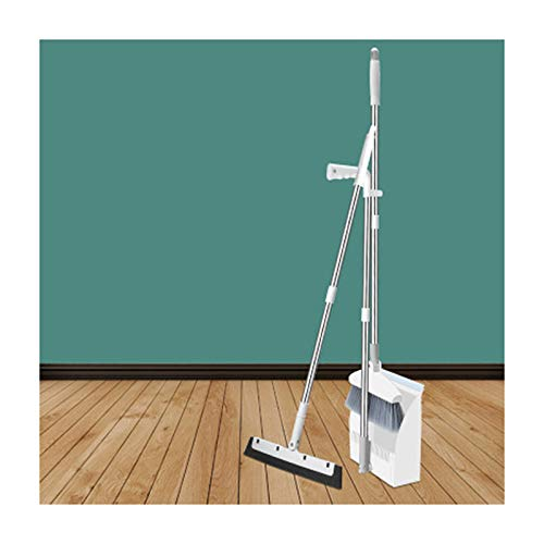Maxte - Juego de limpieza para suelo (180 degree rotary Broom and Foldable Standing Dustpan Household Floor Cleaning)