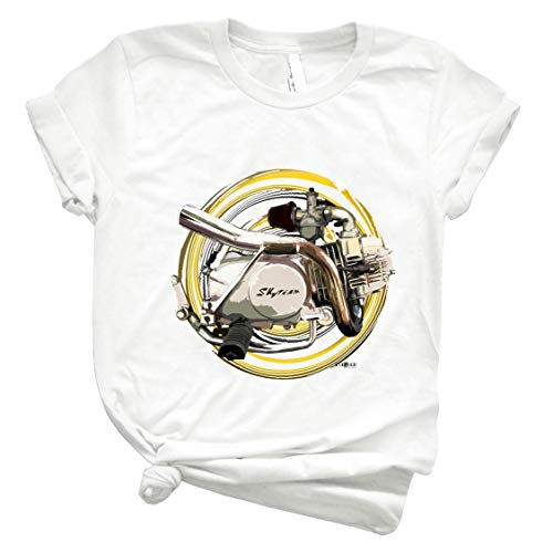 Sky Team Pit Bike Motorcycle Engine Inspired Art Inished Productions 44 Best Women Shirt - Men Shirts Fashion