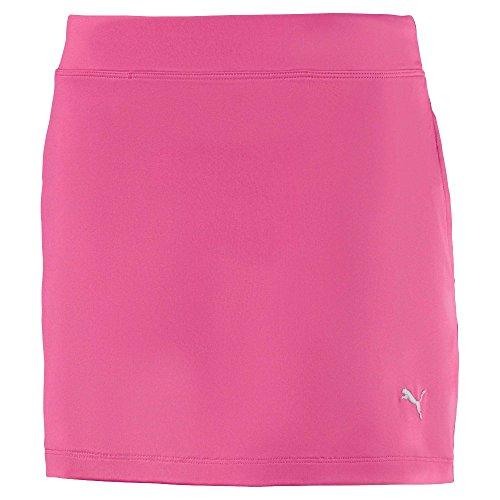 PUMA Golf 2019 Mädchen Solid Knit Skirt, Mädchen, Skort, 572340 Girls Solid Knit Skirt, X-Large, Carmine Rose, Karmesinrot/Rosa, X-Large
