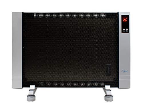 SUNTEC Infrarot Wärmewelle | Elektrische Heizung für Räume bis 25 m2 | Wandmontage - Freistehend | 3 Heizstufen bis zu 1800 Watt | Digitales Display | Mit Fernbedienung | Heat Wave Style 2000 LCD