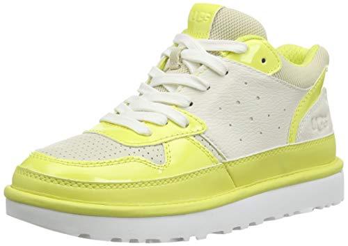 UGG Highland Sneaker, Zapato Mujer, Blanco/Sal DE MAR/Margarita, 38 EU