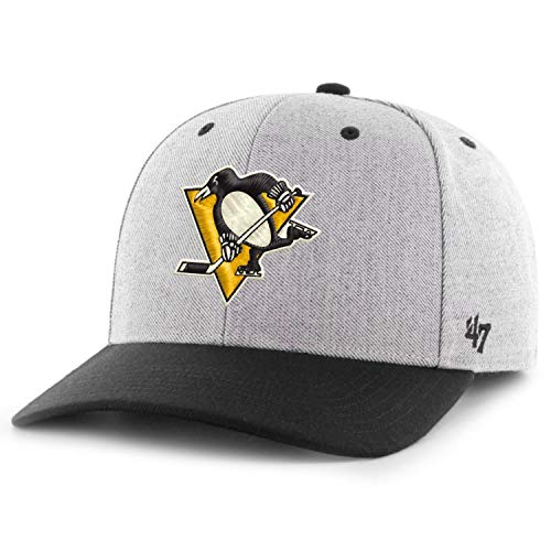 '47 Unisex NHL Pittsburgh Penguins Storm Cloud Tt MVP Dp Baseballkappe, Charcoal, One Size