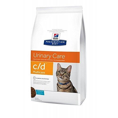 Prescription diet c/d Urinary care feline per problemi urinari mangime secco gusto pesce oceanico kg.1,5, Confezione da 2 pezzi