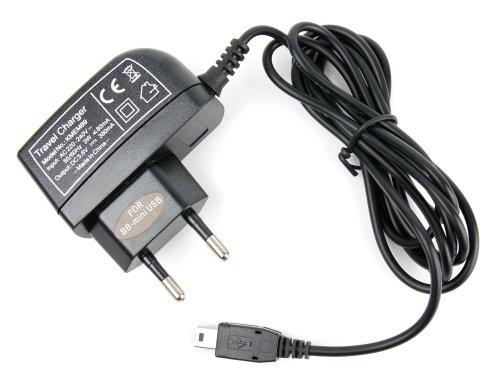 DURAGADGET Chargeur Secteur 1 amp pour GPS Auto et Assistant d'aide à la Conduite - Prise Mini USB