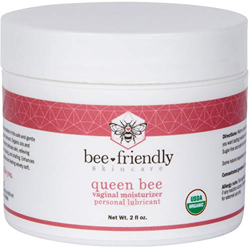 Organic Vaginal Moisturizer By BeeFriendly, USDA Certified, Natural Vulva Cream For Dryness, Itching, Irritation, Redness, Chafing Of Vagina Due To Menopause & Thinning 2 oz