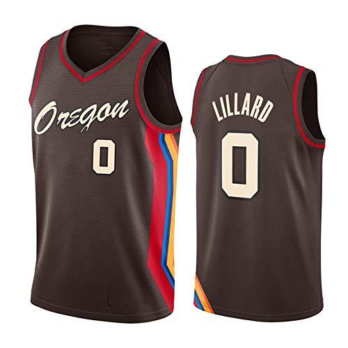 Camiseta De Baloncesto para Hombre Damian Lillard, Portland Trail Blazers 0# Uniforme, Malla Sin Mangas Unisex Camiseta De Baloncesto Swingman Chalecos Superiores,L