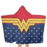 Olicsley Wonder Woman Hooded Beach Towel with Hood Beach Bath...