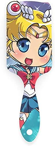 Peine con cojín de aire de Sailor Moon para masajear el cuero cabelludo, cepillo de plástico suave de nailon anti estático, adecuado para mujeres y niñas
