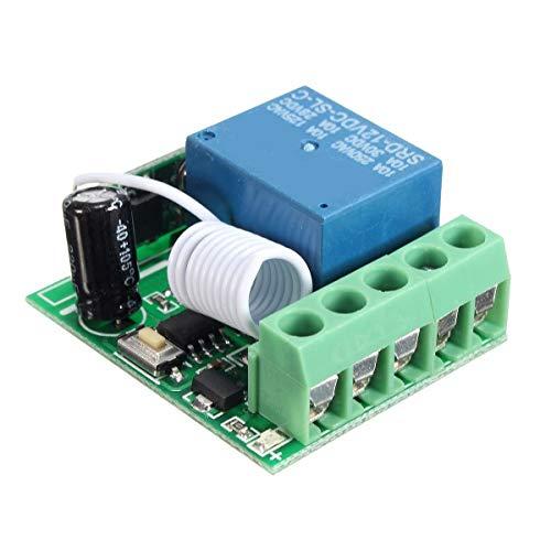 LKK-KK 3 unids DC12V 10A 1CH 433MHz Radiocommunication Relay RF Control Distante Interruptor Receptor Z