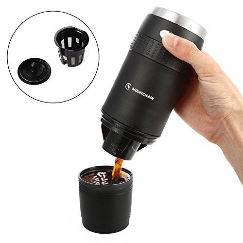 Amazon.com: Mounchain Filter Coffee Machine, Mini Compact Portable Travel Coffee Machine, Coffee Power & K-cup Capsule, Battery Operated (2AAA Battery), Automatic Pensional Coffee Maker, Coffee Lovers Gift, for Commuter Camping, Outdoors, Office: Kitchen & Dining