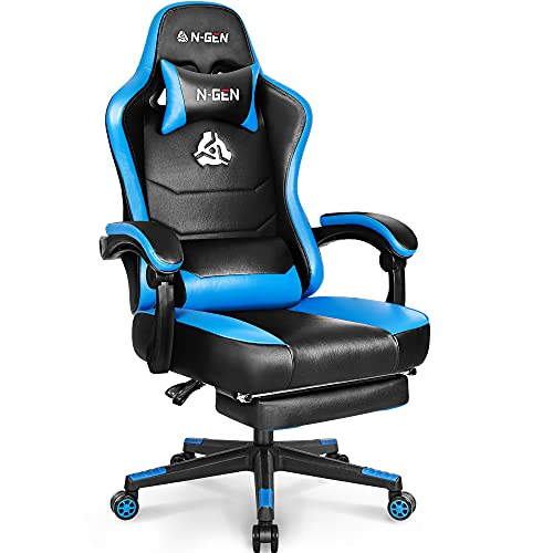N-GEN Gaming Chair with Footrest Levelled Seat...