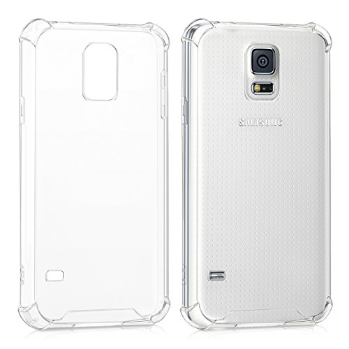 kwmobile Crystal Case Compatible with Samsung Galaxy S5 / S5 Neo - TPU Silicone Mobile Cell Phone Cover - Transparent