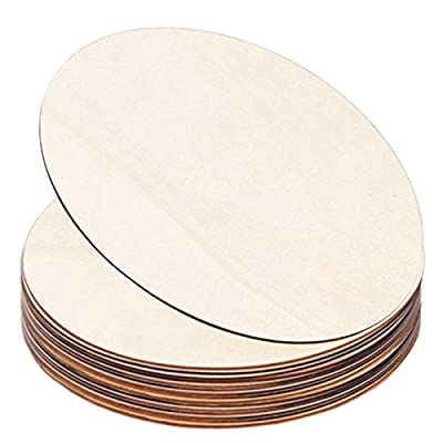 DECORKEY 9 Inch Dia Round Wood Slices for DIY Wood Craft, Pyrography, Painting and Wedding Christmas Decorations