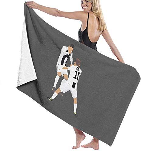 U/K Ronaldo und Dybala Dybala Maske Celebration Badetuch schnell trocknendes Handtuch