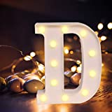Lettere dell'alfabeto luminose a LED, luce bianca calda, decorazione per casa, feste, bar, matrimoni, festival. D