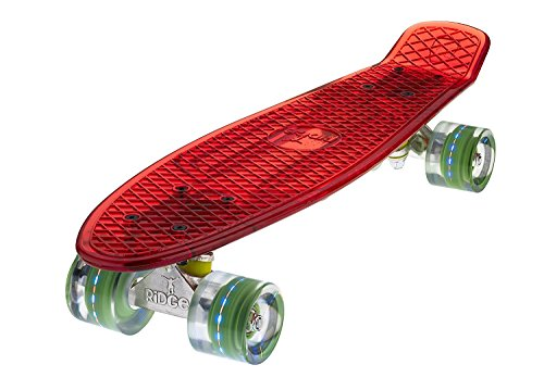 Ridge Skateboard Blaze Mini Cruiser , rot/multi, 55 cm