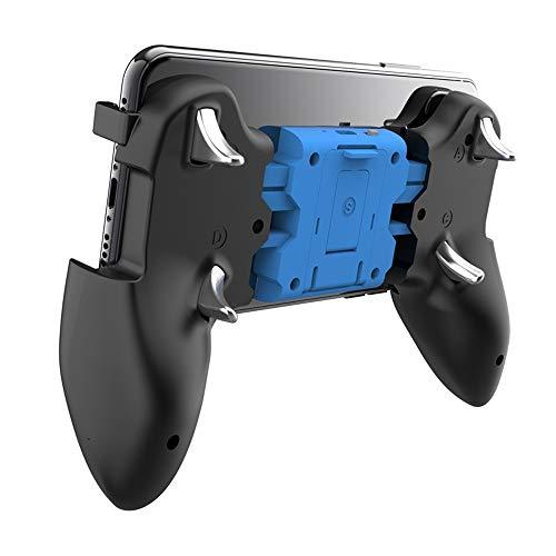 "Lihgfw Mobile Game-Controller mit Lüfter for PUBG L1R1 Gaming Grip Gamepad Mobile Controller Auslöser for 4,7-6,5\"" iOS Android und iOS Telefon Teleskop-Controller mit Flexible Joystick (Schwarz)"
