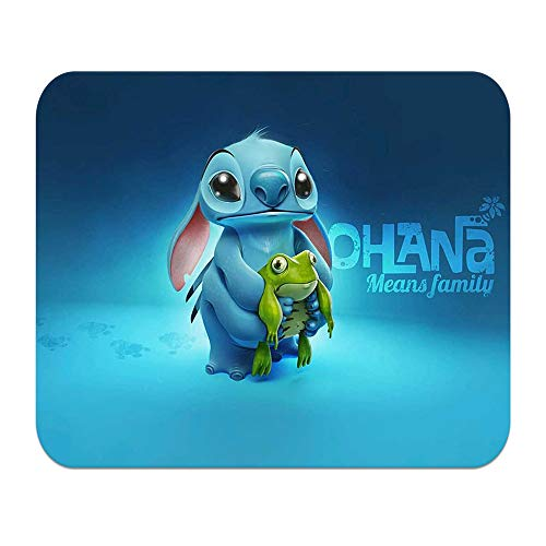 Mouse Pad Cartoon Lilo and Stitch Cute Personalized Non-Slip Rubber Mousepad Gaming Mouse Mat (9.5inchx7.9inch)#H