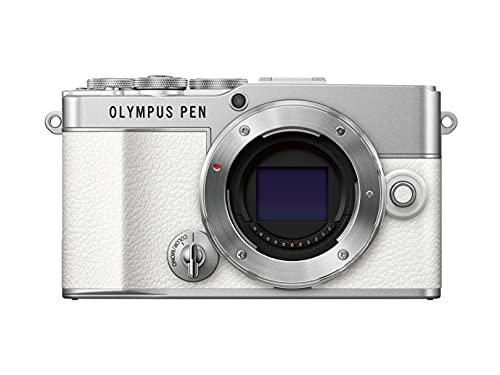 Cámara del Sistema Micro Cuatro Tercios Olympus Pen E-P7 Blanca, Sensor de 20 MP, LCD de Alta definición abatible, vídeo 4K, Wi-Fi, Control de Perfil Monocromo y del Color