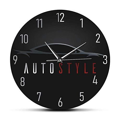 TIANYOU Mude Mucha Reloj Auto Estilo Automote Coche Coche Moderna Moderna Silencial Reloj Deporte Deportes de Vehículo de Empresos de la Pared Madera Auto Empresa de la Empresa de l