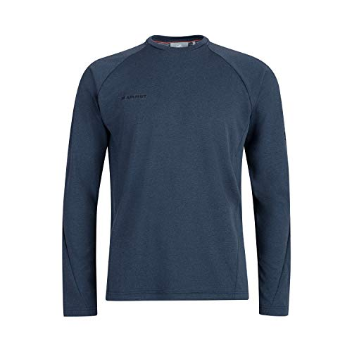 Mammut Aegility Longsleeve Tee-Shirt à Manches Longues Homme Marine Mélange FR: L (Taille Fabricant: L)